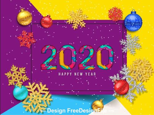 Christmas 2020.2020 Decorative Christmas Greeting Card Vector Free Download
