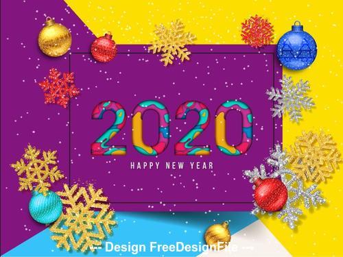 2020 decorative christmas greeting card vector