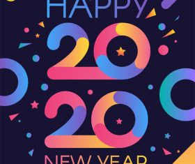 2020 happy new year illustration vector
