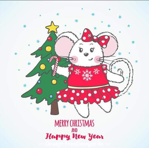Merry Christmas Images 2020.2020 Merry Christmas And Happy New Year Vector Free Download