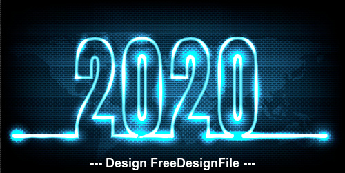 2020 new year blue light shadow background vector