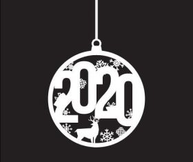2020 new year pendant background vector