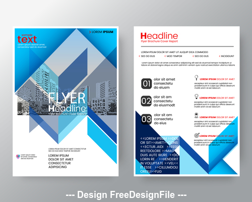 Abstract background for poster brochure flyer design vector