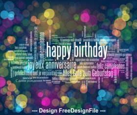 Abstract background happy birthday vector