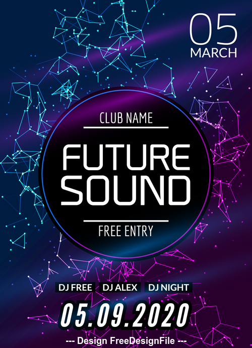 Abstract background music flyer vector