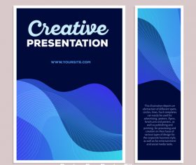 Abstract blue stripes posters vector