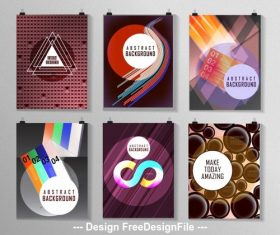 Abstract colorful poster collection vector