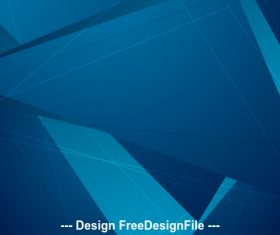 Abstract dark blue geometric polygonal background vector