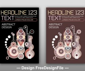 Abstract design template vector