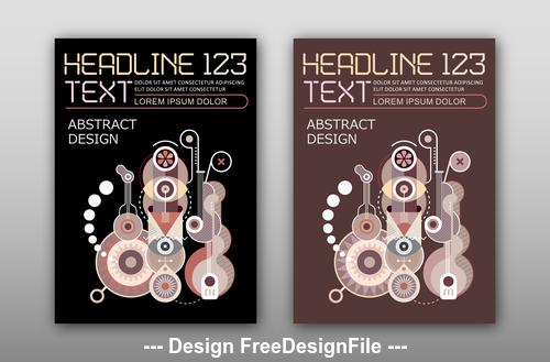 Abstract design template vector