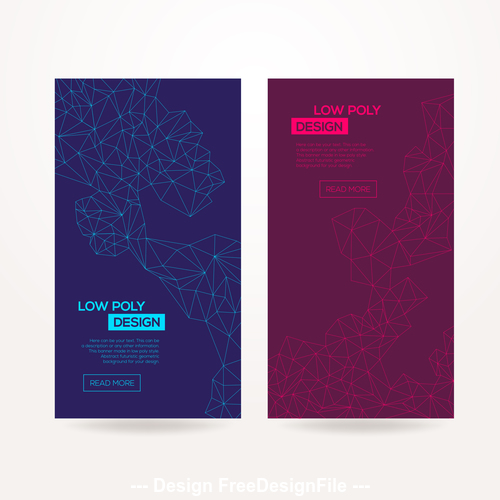 Abstract geometric dark background template card vector