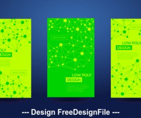 Abstract geometric light green template card vector