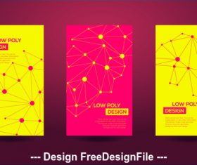 Abstract geometric red and yellow template card vector