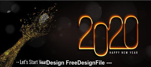 Abstract hand background new year greeting card vector 01
