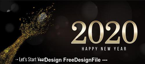 Abstract hand background new year greeting card vector 02