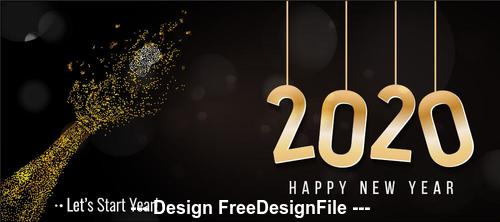 Abstract hand background new year greeting card vector 03