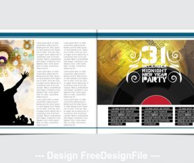 Abstract music template design vector