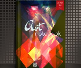 Abstract notebook art cover vector