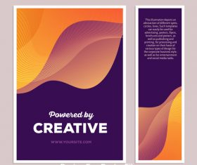 Abstract posters vector