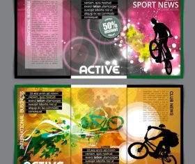 Abstract sport news template design vector