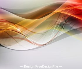 Abstract wave bright light background vector