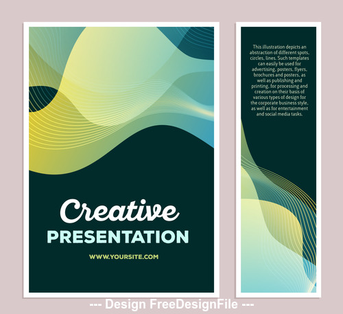 Abstract yellow stripes posters vector