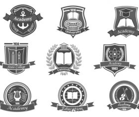 Academy element icon vector