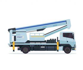Airport crane cartoon vector
