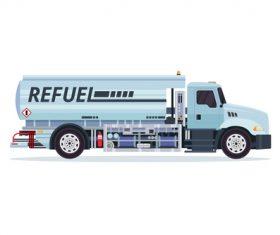 Airport filling fuel truck cartoon vector