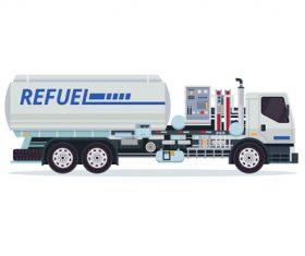 Airport fuel truck cartoon vector