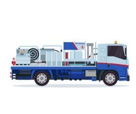 Airport simple fuel truck cartoon vector