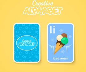 Alphabet double-sided card for children I vector