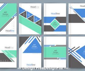 Art head line cover template vector