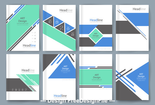 Art head line cover template vector