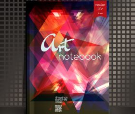 Art notebook cover vector