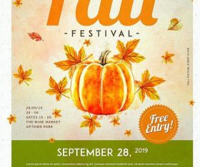 Autumn Festival Flyer Psd Template