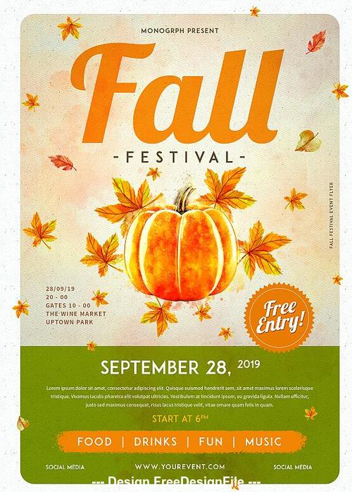 Autumn Festival Flyer Psd Template