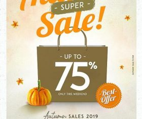 Autumn Sale Flyer Psd Template Design
