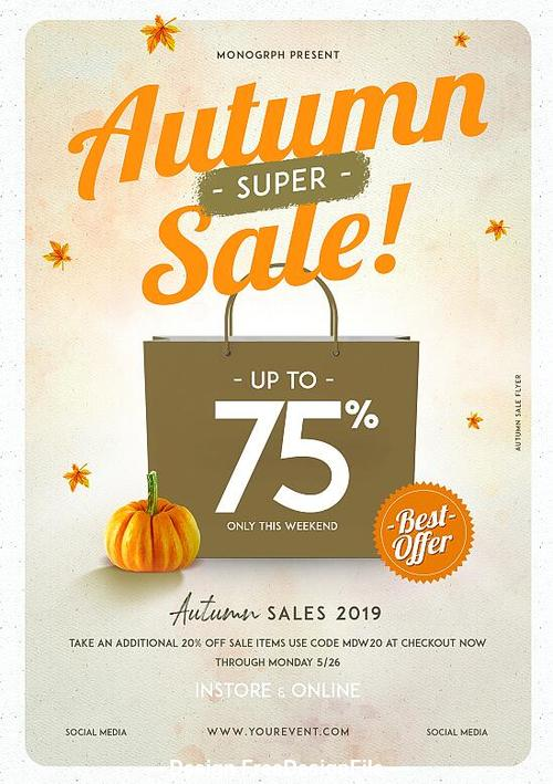 Autumn Sale Flyer Psd Template Design
