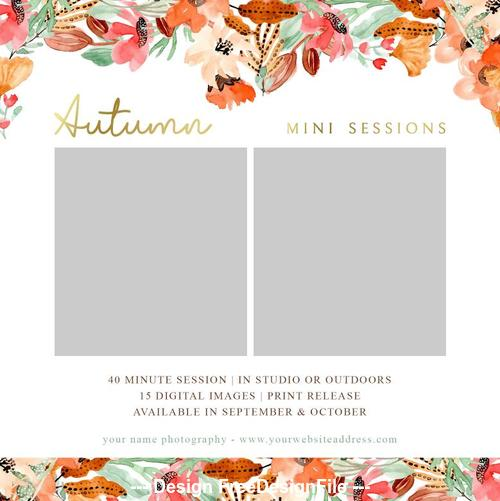 Autumn Styles Sessions PSD Template