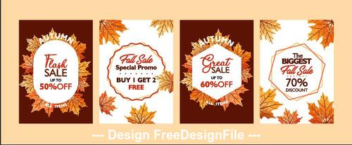 Autumn flash sale flyer vector