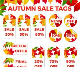 Autumn sale tags vector