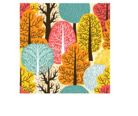 Autumn trees pattern vector
