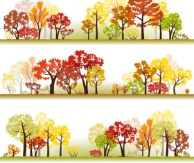 Autumn woods illustration vector