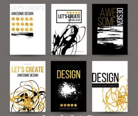 Awesome design cover template vector