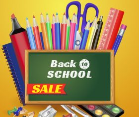 Back to school Stationery sales vector