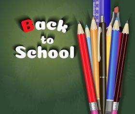 Back to school background illustration vector