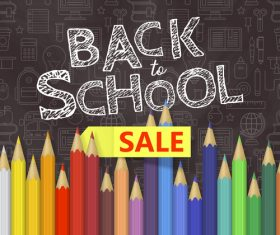Back to school pencil illustration vector