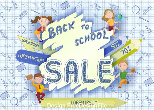 Back to school student illustration vector
