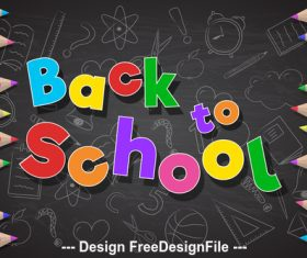 Background illustration Back to school accessories vector